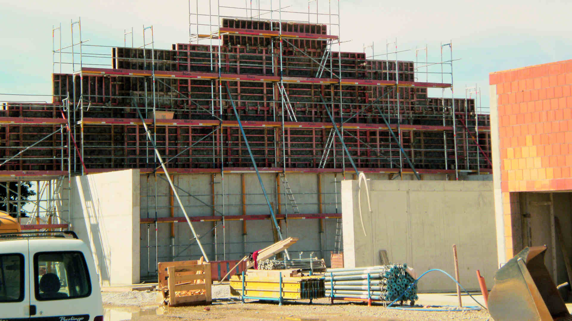Baustelle des Baugeschäfts W. Semtner GmbH in Mauerstetten bei Kaufbeuren