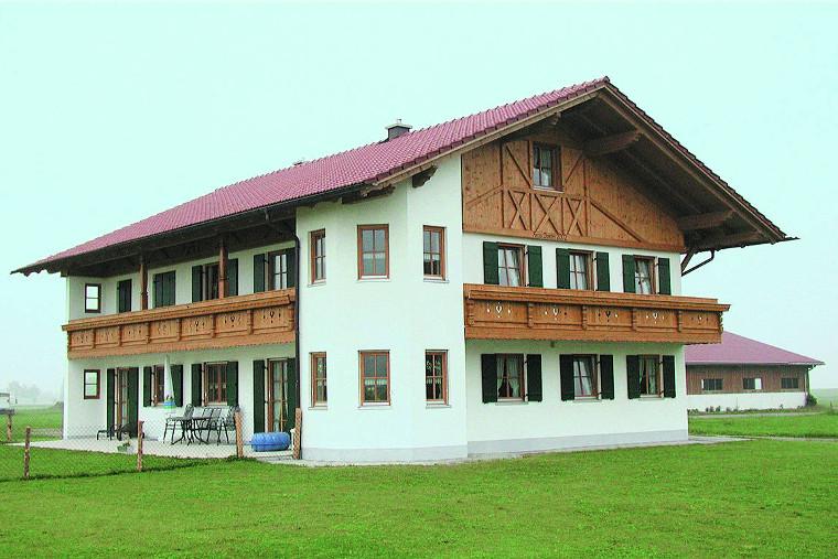 Einfamilienhaus gebaut durch das Baugeschäft W. Semtner GmbH in Mauerstetten bei Kaufbeuren